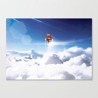 Super Bears - ACTION! the Invincible One Canvas Print