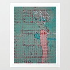 Doll (Spearmint) Art Print