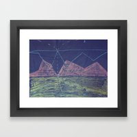 Layout Framed Art Print