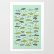 Cute Crocodiles Art Print