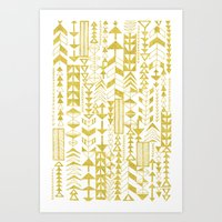 Golden Doodle Arrows Art Print