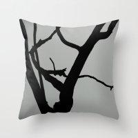 TREE ON JOANNA BALD Throw Pillow