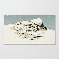 Landscape with snow Canvas Print