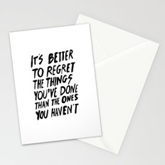 #NOREGRETS Stationery Cards