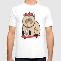 My dog loves gin - colour Mens Fitted Tee White SMALL
