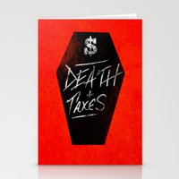 Death & Taxes Stationery Cards