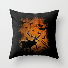 Lost Deer Throw Pillow