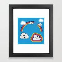 The Great Rainbow Cloud … Framed Art Print