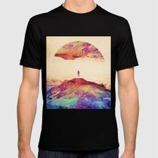 Altered Mind SMALL Black Mens Fitted Tee