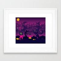 Night Of The Forest Spir… Framed Art Print