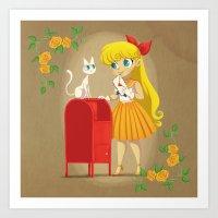 Retro Sailor Venus Art Print