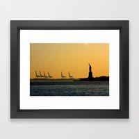 South Ferry Sunset Framed Art Print