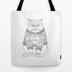 I hate humans. Tote Bag