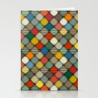 buttoned patches retro Stationery Cards