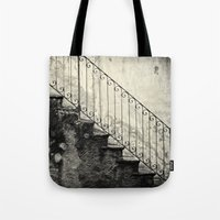 Stairs on a rainy day Tote Bag
