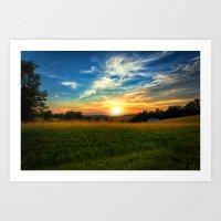 Dale Hollow Sunset Art Print