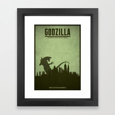 Godzilla - minimal poster Framed Art Print