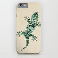 iPhone & iPod Case featuring Ornate Lizard by Barruf
