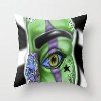SPLASH ... D.N.A. Throw Pillow