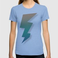 Polka Plankton Blue Womens Fitted Tee Athletic Blue SMALL