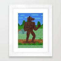 RISE FROM YOUR GRAVE Framed Art Print