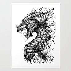 Dragon's Outrage Art Print