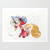 Don´t Panic Babe! I´m … Art Print