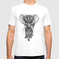 PETITE ELEPHANT. SMALL White Mens Fitted Tee
