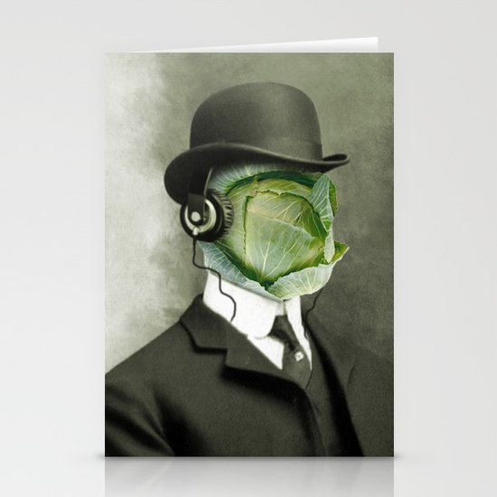 Bowler cabbage Stationery Card