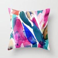 Paradise Watercolor Bota… Throw Pillow