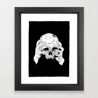 Skull In Hands Framed Art Print