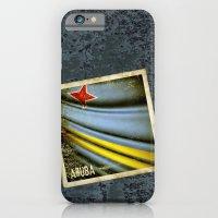 Grunge sticker of Aruba flag iPhone 6 Slim Case