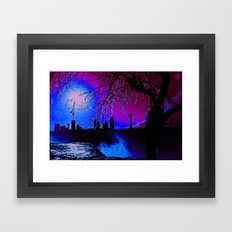 pink sky :o Framed Art Print
