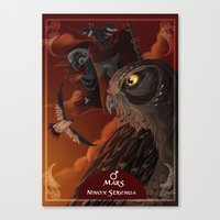 solar owls mars  Canvas Print
