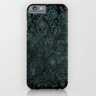 Teal Ornaments iPhone 6 Slim Case