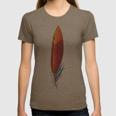 Feather #3 Womens Fitted Tee Tri-Coffee SMALL