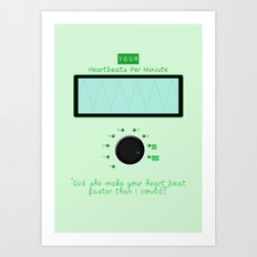 Heart beats per minute  Art Print