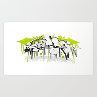 3D GRAFFITI - SWEED Art Print