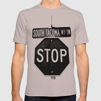 South Tacoma Stop Mens Fitted Tee Cinder SMALL