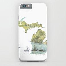 Ships Along the Shore - Michigan circa 1868 iPhone 6s Slim Case