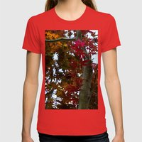 Japanese Maple Tree Womens Fitted Tee Red SMALL
