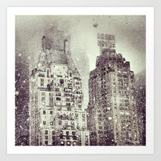 Snow Over the Essex House Art Print