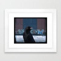Be Crow Framed Art Print