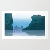 Sea of Æsir Art Print