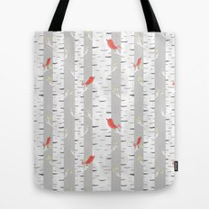 Birch Birds Tote Bag