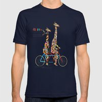giraffe days lets tandem Mens Fitted Tee Navy SMALL