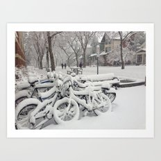 Let's Snow! Art Print