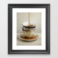 Tea Spill Framed Art Print
