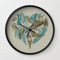 Wild Heart Wall Clock