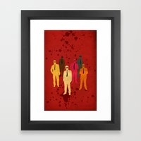 Six Angry Dogs Framed Art Print